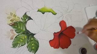 Roberto Ferreira – Aprenda a Pintar Hibisco vermelho