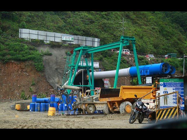 नागढुङ्गा सुरुङमार्ग निर्माण प्रगति गौरव गर्न लायक,दुइ सिफ्टमा धमाधम कामहुदै/First Tunnel  in Nepal