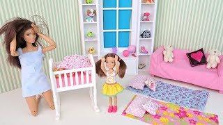Пижамная Вечеринка Закончилась Шоком для Мамы Мультик #Барби Куклы Игрушки Для детей IkuklaTV