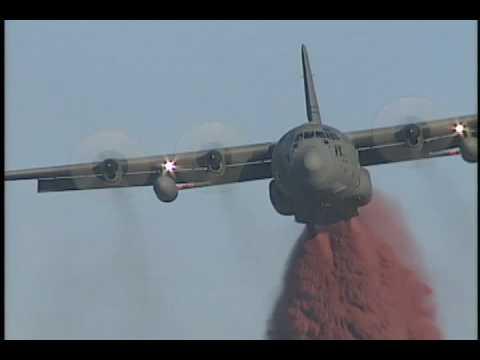 Lockheed C-130 air tanker fire fighter Morgan Hill CA.