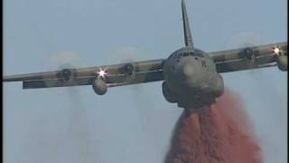 Lockheed C-130 air tanker fire fighter Morgan Hill CA.