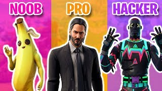 ULTIMATE NOOB vs PRO vs HACKER Fortnite Compilation