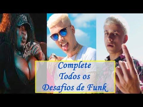 DESAFIO: Complete Todos os Desafios de Funk! (Jojo Todynho, MC Kevinho, MC Pedrinho, ...)
