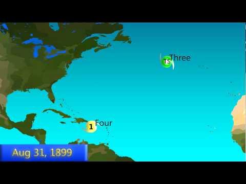 1899 Atlantic Hurricane Season Animation