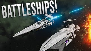 BATTLE CRUISER EPIC WARFARE! - Space Engineers Multi-Crew battle! thumbnail