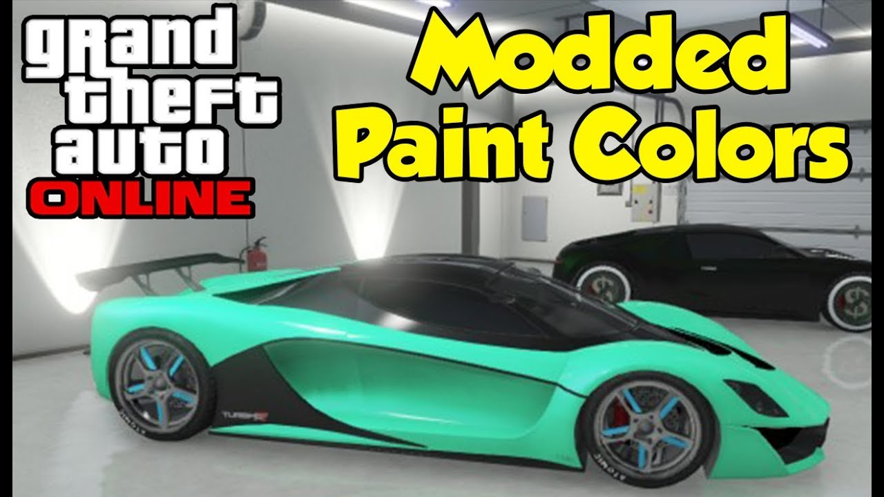 Gta online modded paint job colors tutorial how to gta v gta online modded paint job colors tutorial how to gta v modded crew colors youtube geenschuldenfo Images