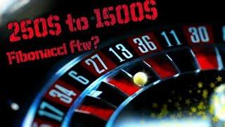 HD ✦ Live Roulette ✦ 250$ vs Live Casino ♛ Fibonacci pattern for Big Win?