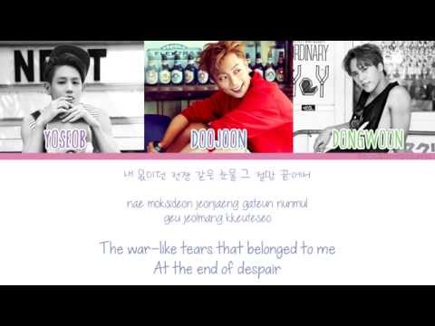 [Color Coded/Han/Eng/Rom] BEAST (Yoseob, Doojoon, Dongwoon) - Without You