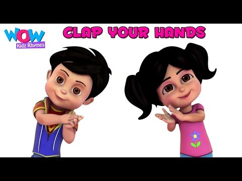 Clap Your Hands I Nursery Rhyme for KidsI Vir The Robot Boy I Wow Kidz Rhymes