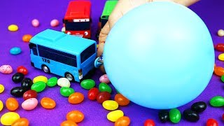 Gambar cover TAYO bus and blowing balloons | Learn Colors, Surprise Eggs | TOYMON