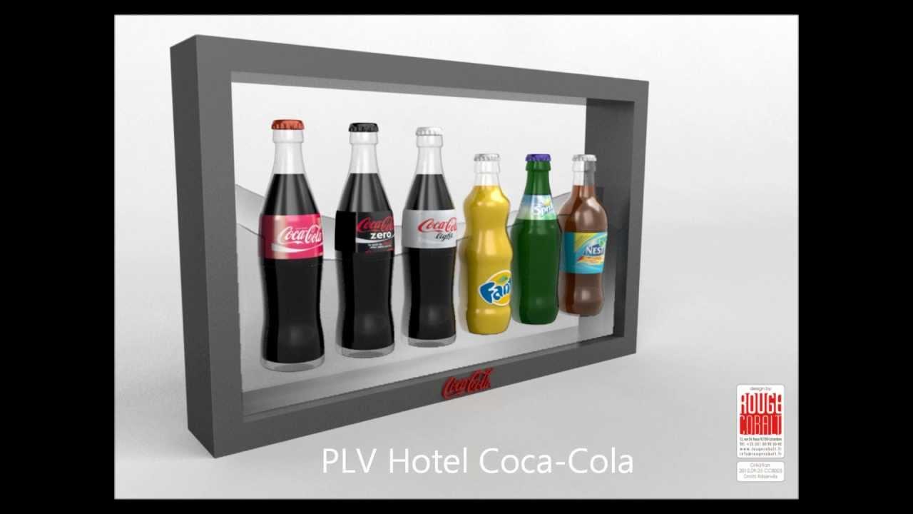 ROUGE COBALT   Design Produit   PLV Gondole Présentoir Meuble Coca Cola
