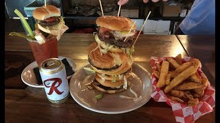 Sam's Tavern's Burger Challenge in Seattle, Washington!!