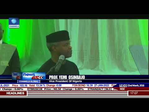 Investing In People Is A key Part Of Our Plan, Says Osinbajo