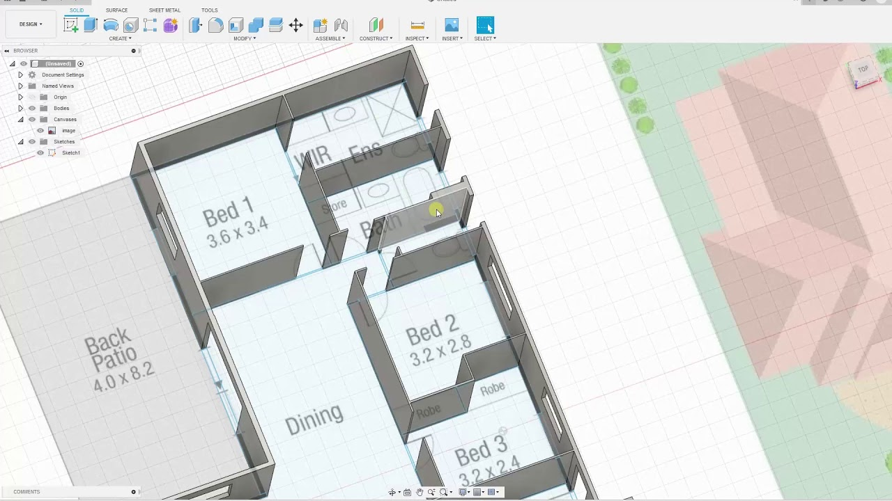 Fusion 360 Build And 3d Print A House From A Floor Plan With Just 2 Commands Youtube
