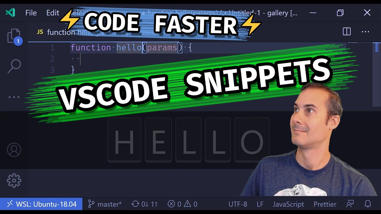 CODE FASTER WITH VSCODE CODE SNIPPETS which auto complete common boilerplate code