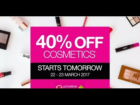Priceline 40% Off Cosmetics  - What To Buy Guide    KATE THOMPSON