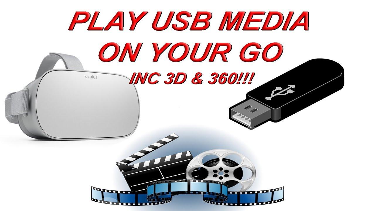 Oculus Go USB OTG Media! Play movies on Oculus Go from a USB Drive!