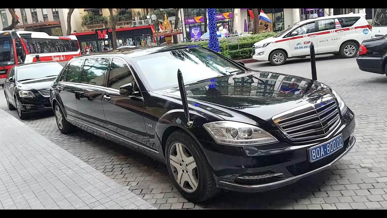 Nhìn gần xe bọc thép triệu đô Mercedes S600 Pullman Guard chuyên chở các chính khách thăm #Vietnam