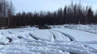 Наглядный тест, спущенные колеса до 0.5 по мокрому снегу. Часть 1.