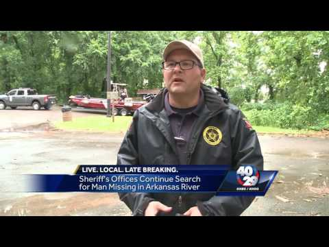 Sheriff's Offices Continue Search for Man Missing in Arkansas River