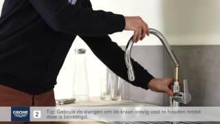 GROHE Keukenkraan met uittrekbare handdouche installeren