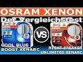 Osram Xenon COOL BLUE BOOST Xenarc vs  NIGHT BREAKER UNLIMITED Xenarc   Der Vergleich