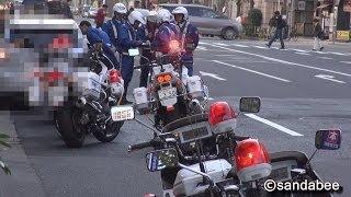 プリウス免許提示拒否で大騒動!白バイ6台と覆面パト緊急走行。6 police motorcycle and mask pato urgently run!