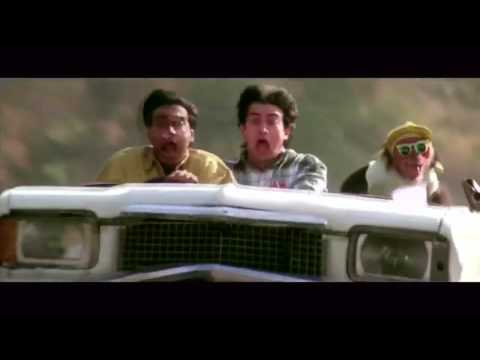Aamir Khan And Ajay Devgan Car Comedy Scene Ishq Movie