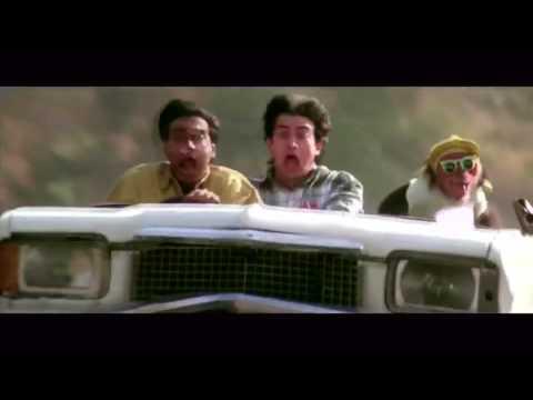Aamir Khan And Ajay Devgan Car Comedy Scene Ishq Movie