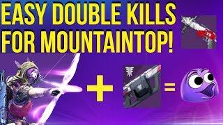 Double Kills For Mountaintop - EASIEST Method! Destiny 2 Season Of Opulence