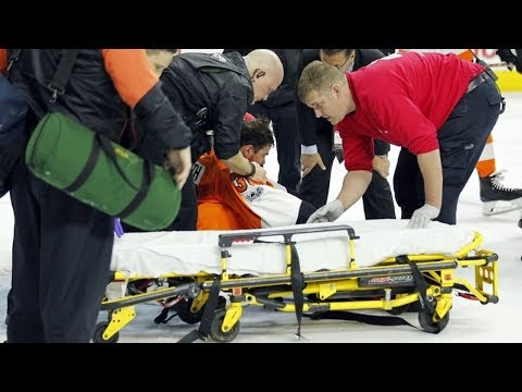 Thumbnail: NHL Goalies Needing Stretcher