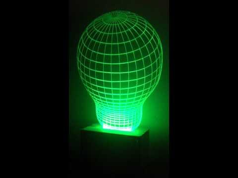 LED hiệu ứng 3D. Đèn bàn, đèn trang trí