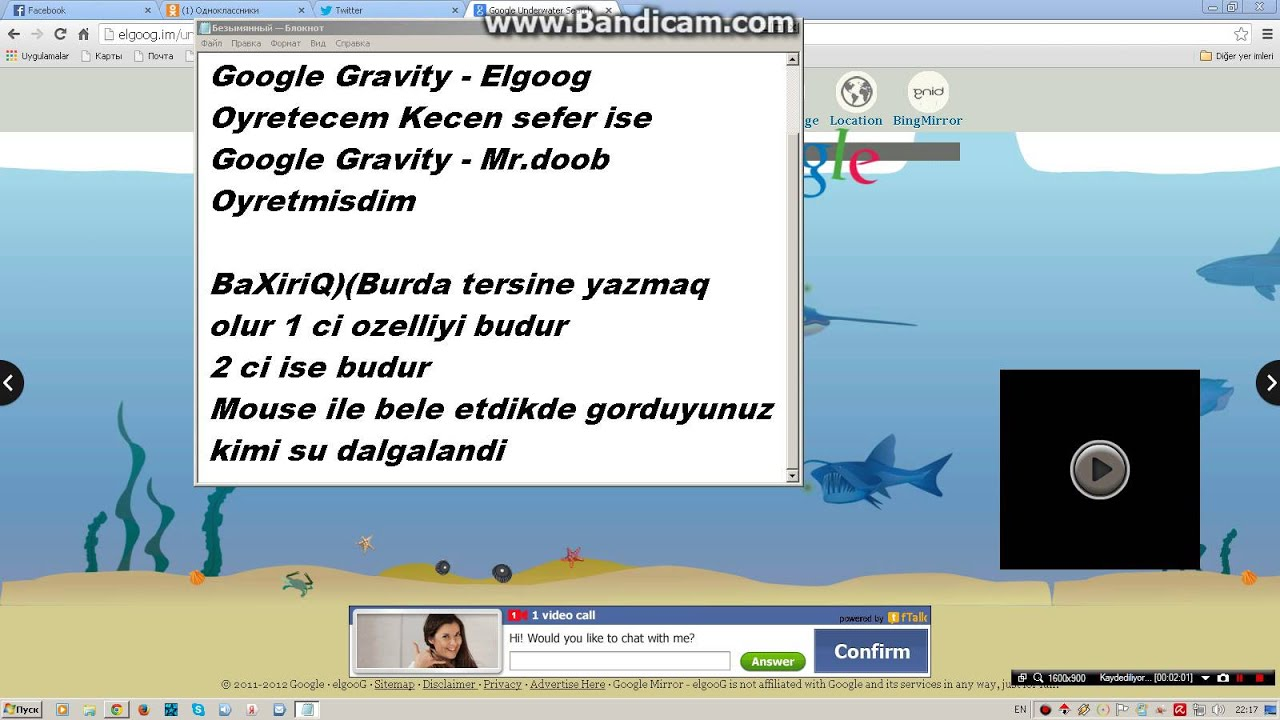 Google underwater mr doob - Google Gravity Elgoog