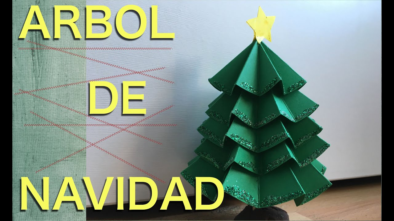 Arbol o abeto de navidad con cartulina youtube - Arbol de navidad abeto ...