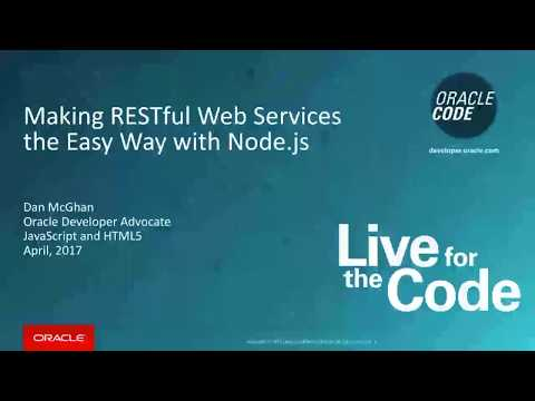 Making RESTful Web Services the Easy Way with Node.js