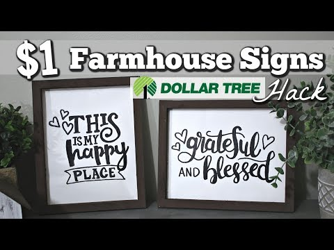 Dollar Tree Farmhouse Home Decor | DIY Farmhouse Signs Dollar Tree | Krafts by Katelyn