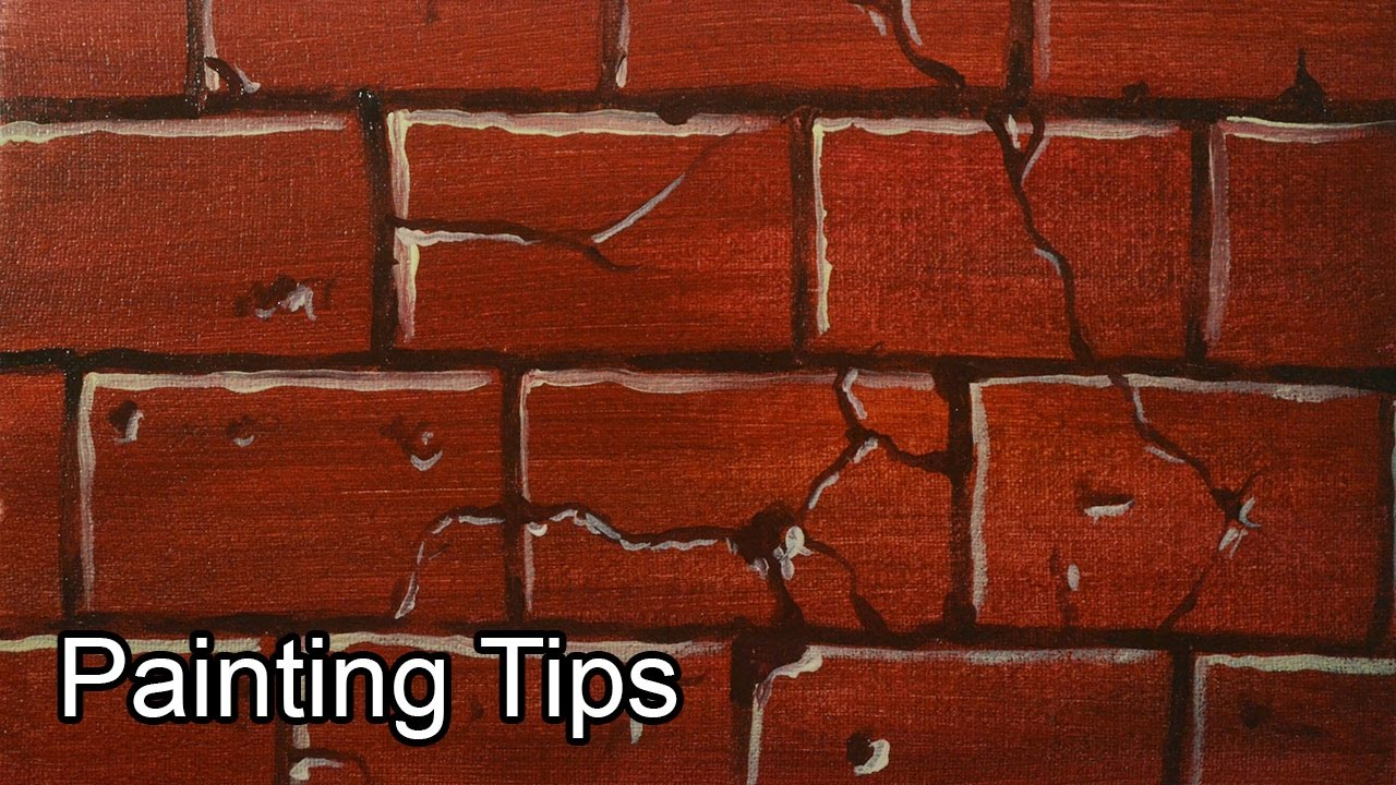 Acrylic Painting Lesson  How to Paint Bricks by JM