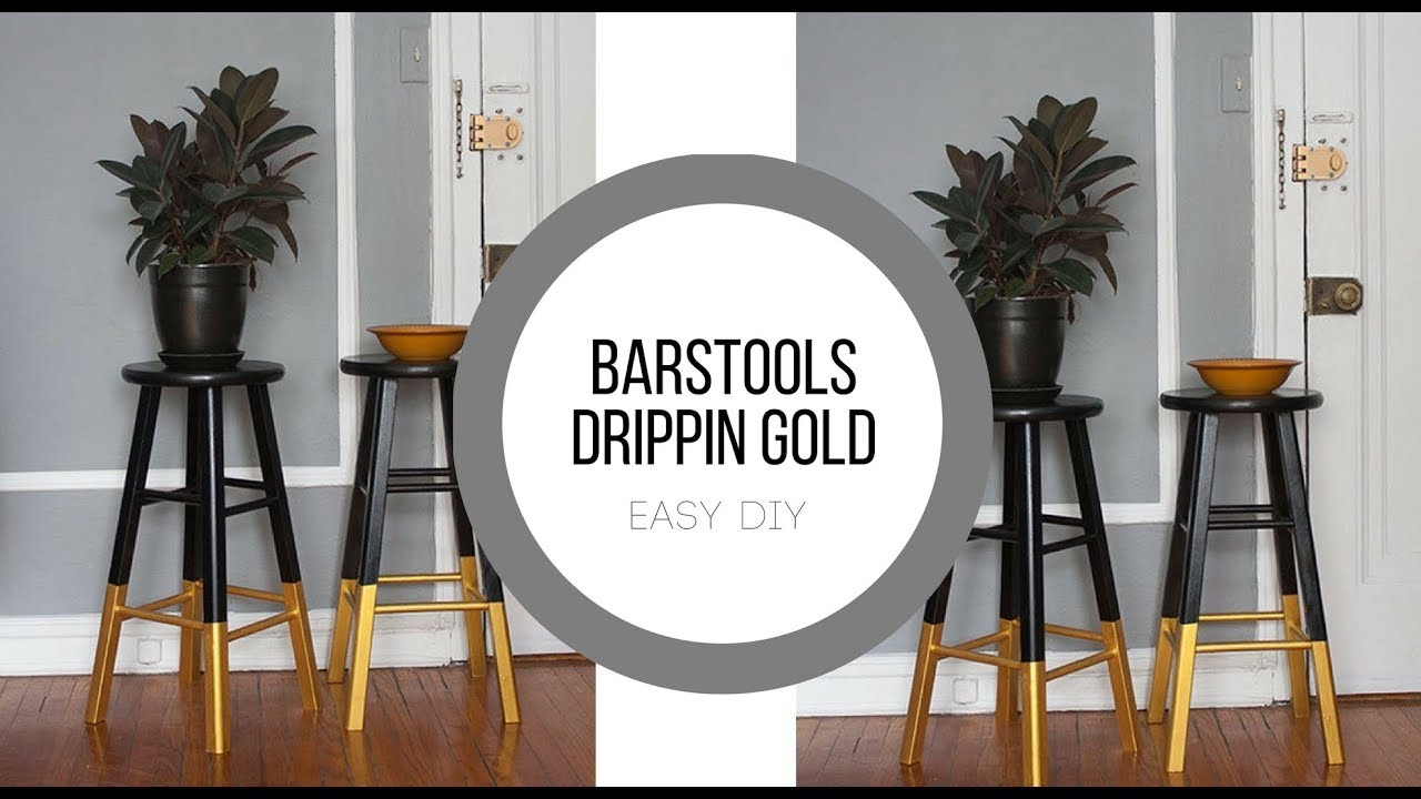 Gold Dipped Barstools | DIY HOME/ DORM DECOR