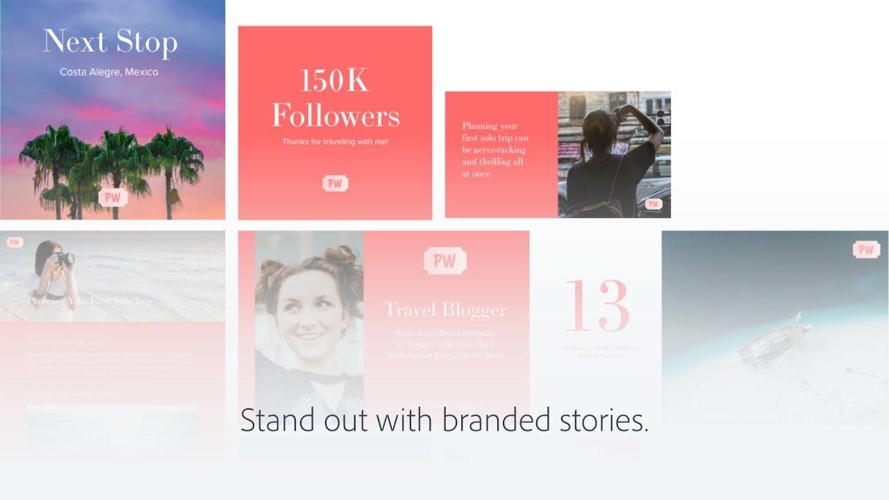 Adobe's free visual storytelling tool Spark adds premium