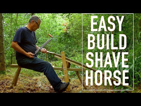 How to Build a Shave Horse. Bowyer's Woodworking Dream. Traditional Handmade Vice for Wood Carving