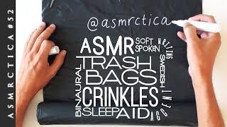 ASMR Writing on Garbage bags + Ramble about new ASMR favorites | Binaural Soft Spoken