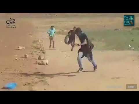 Palestinian demonstrator gets shot by sniper near Gaza border