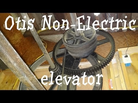 Historic Hand operated Otis elevator in South Boston VA