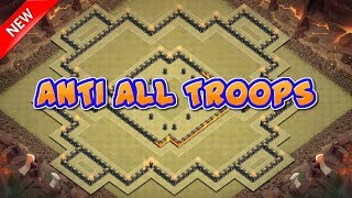 Best Th10 (Town Hall 10) War Base With Replay Anti All Troops Anti 2 Star Anti 3 Star Clash Of Clans