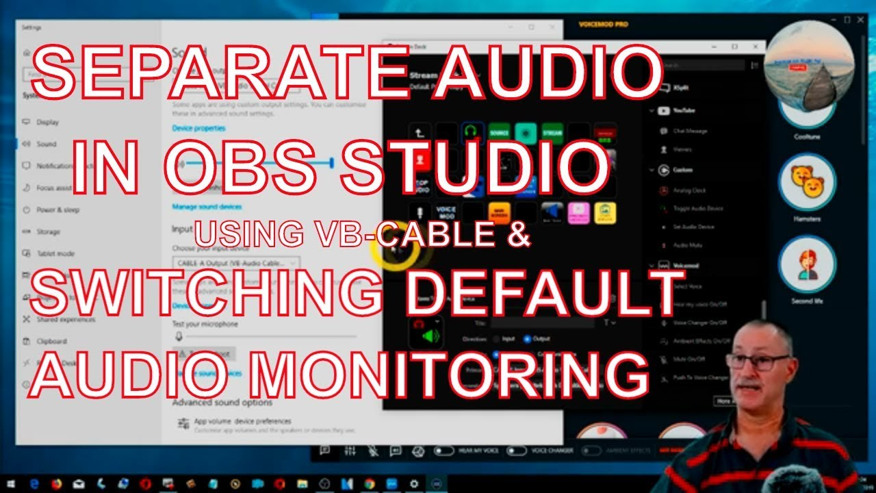 How to setup multi track with VB-cable Virtual Audio in OBS Studio