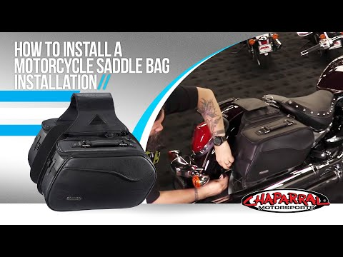 How to Install a Motorcycle Saddlebag Installation Tutorial