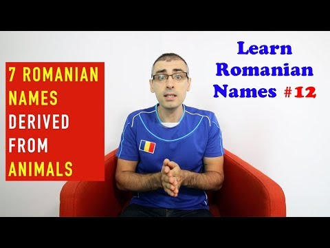 7 ROMANIAN NAMES DERIVED FROM ANIMALS | Learn Romanian Names #12
