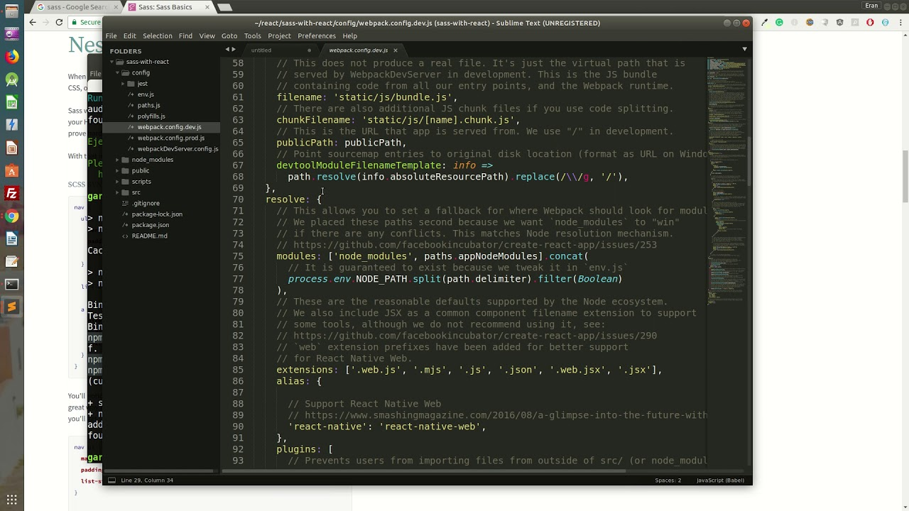 How to install SaSS on your React js project