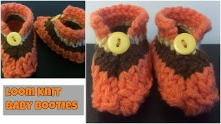 Loom Knit Baby Booties