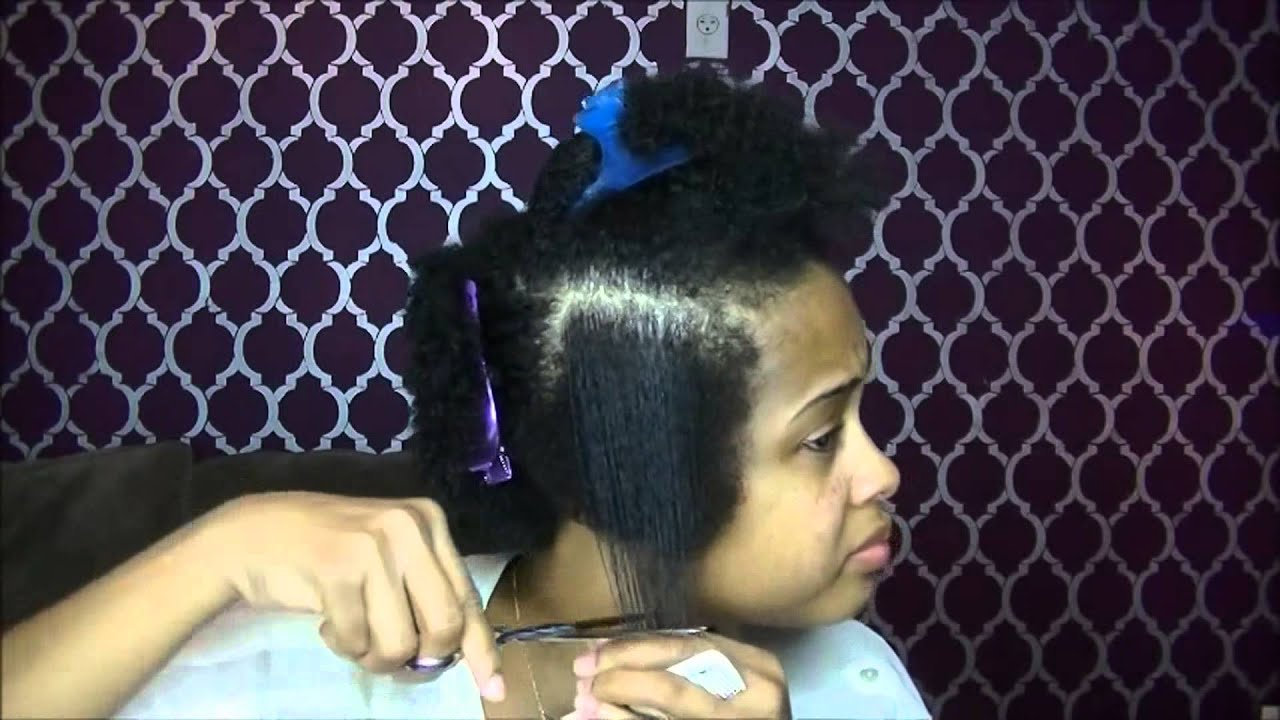 How To Tapered Haircut On Natural Hair How To Cut Natural Hair